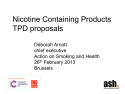 Nicotine containing products TPD proposals